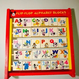 Vintage Disney Flip-flop Alphabet Blocks